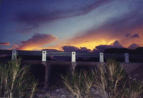 Sunset at Van Horn, Texas